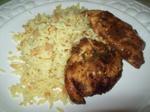 This yummy chicken dish was made using homegrown herbs.