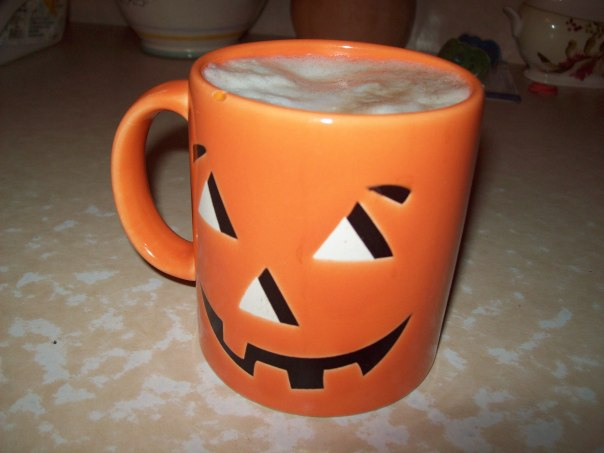 Also if you serve it in a pumpkin mug it tastes even MORE like pumpkin pie lattes.*