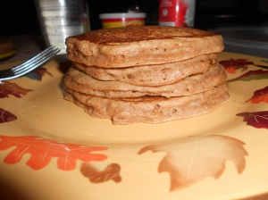 Yummy apple cinnamon pancakes.