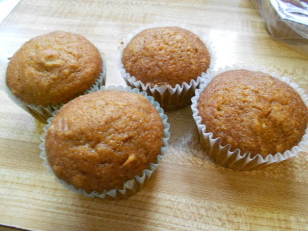Only showing the muffins, since the loaves had an, er... accident while de-panning.
