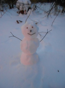 A snowman, or me after being outside too long?