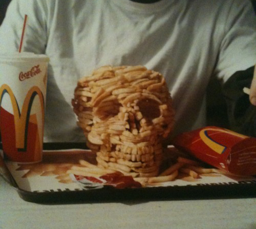 French Fry Skull by Christopher Chiappa