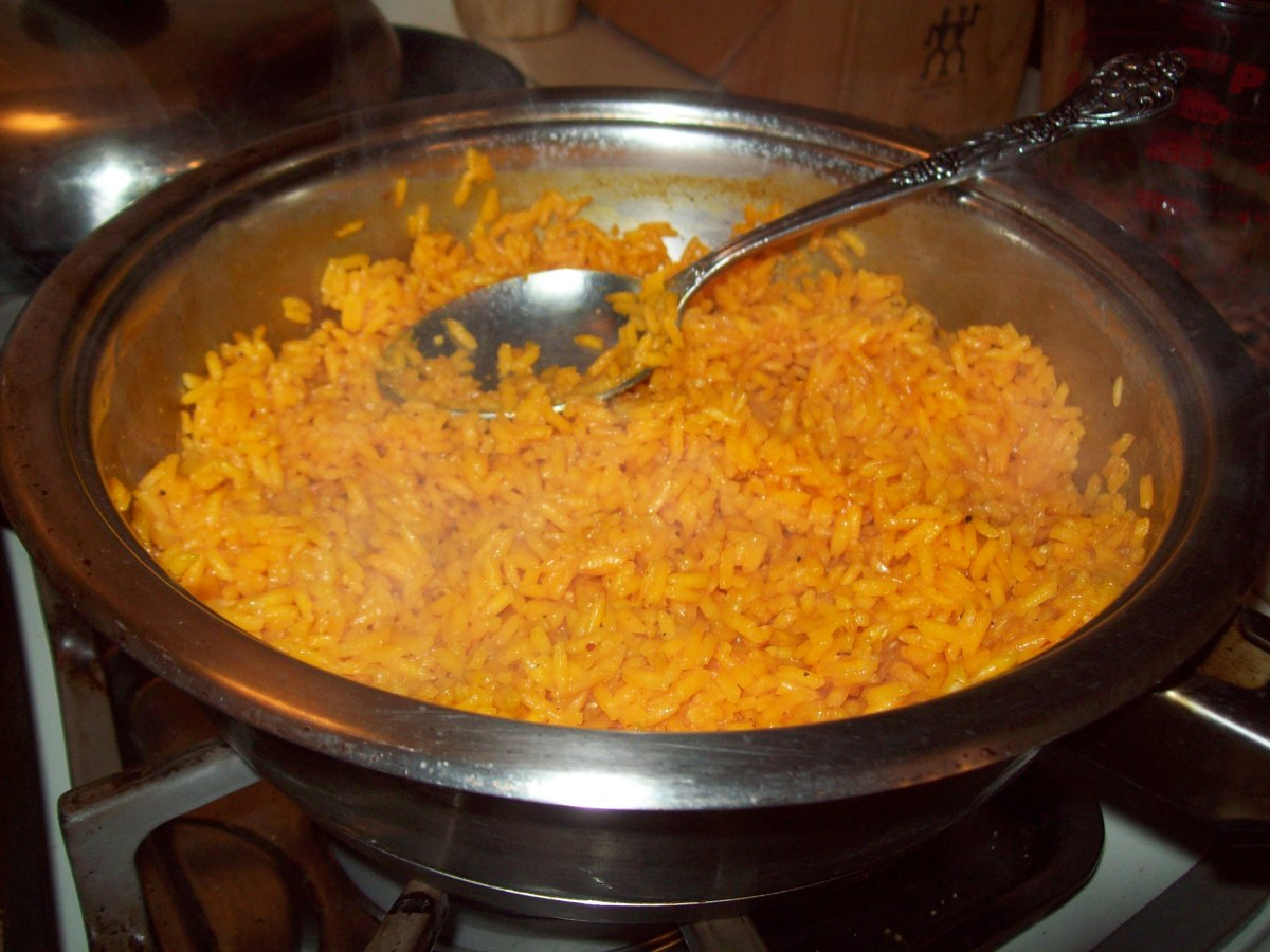Cheat Codes How To Make Quick Yellow Rice Spanish Rice The Poor Couple S Food Guide