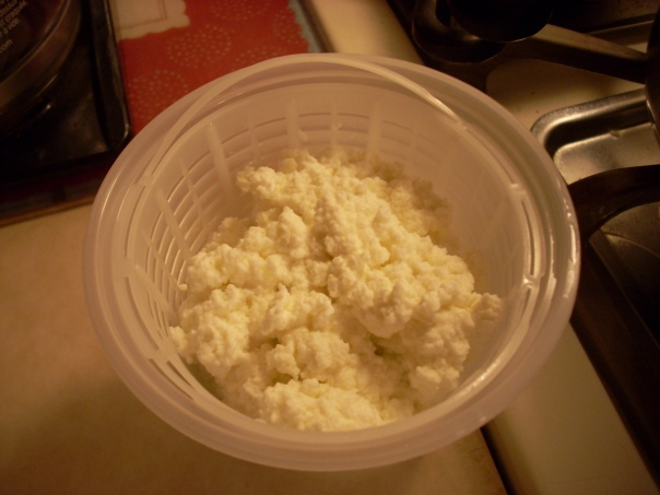 Finished ricotta!