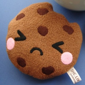 Adorable sad cookie made by shelikescute on Etsy.