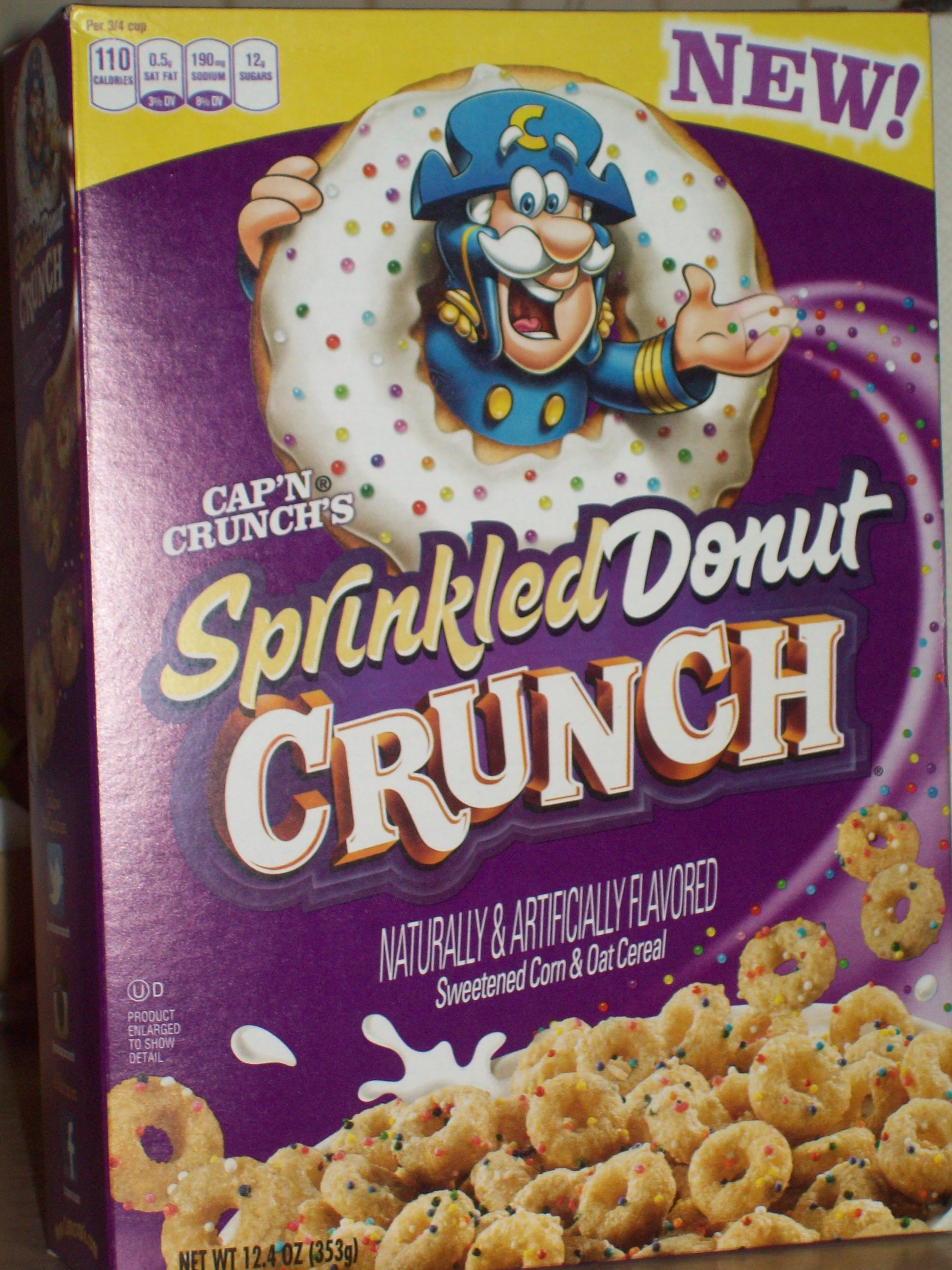 The Cereal Report: Cap'n Crunch's Sprinkled Donut Crunch