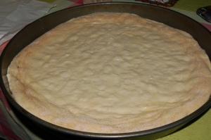 Before going into the oven