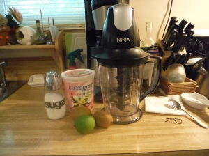 What you'll need.  Also, look who got a new blender!